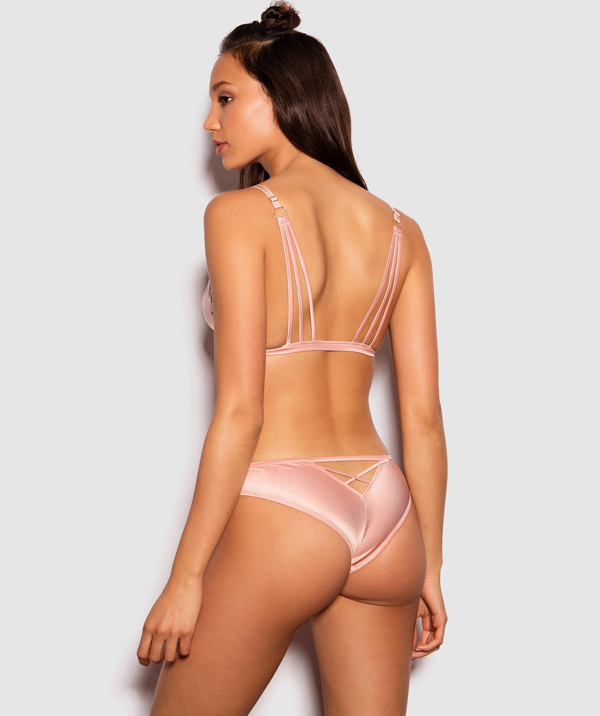 Enchanted Chloe Brazilian Knicker - Light Pink/ White