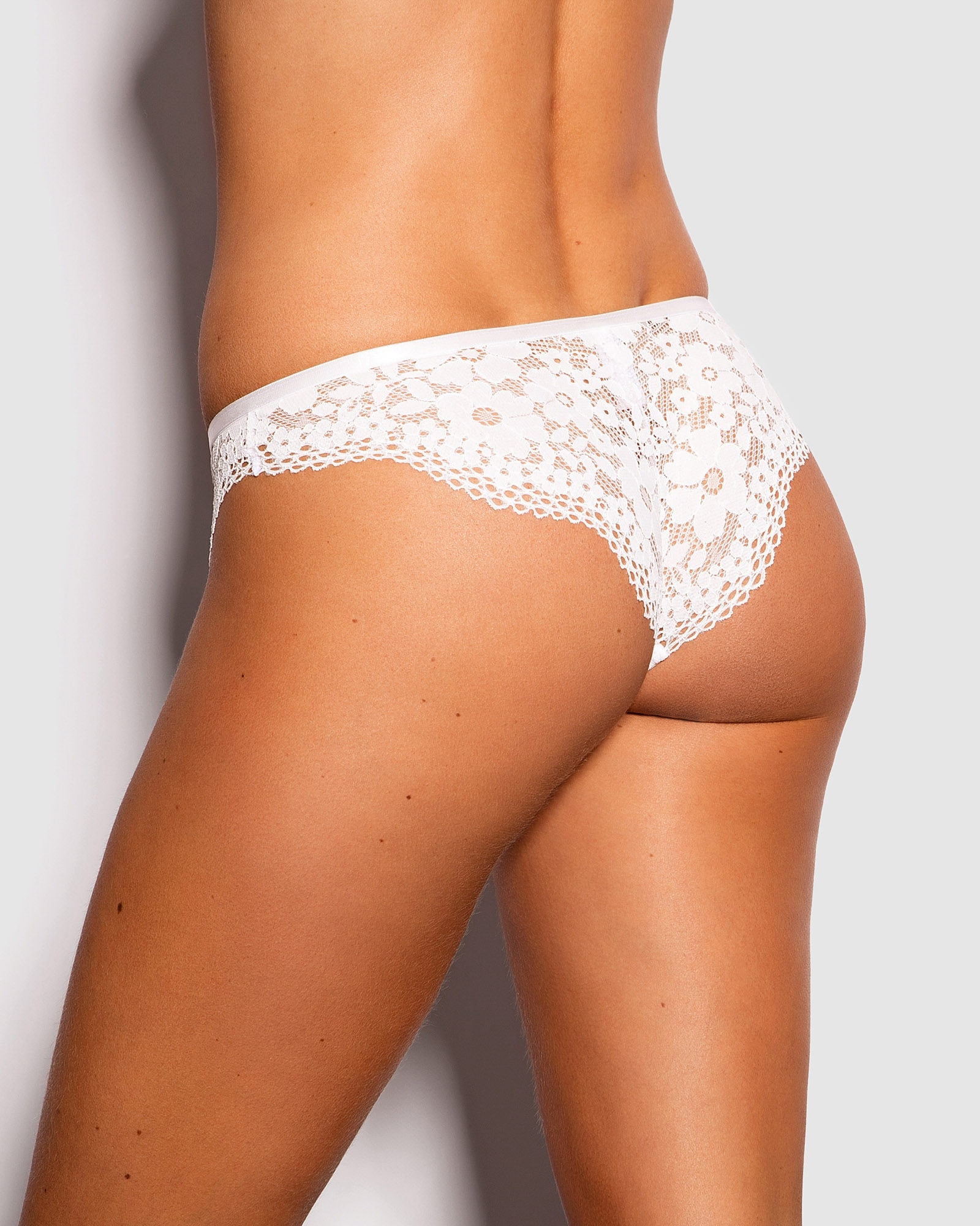 Belle Brazilian Knicker - Ivory