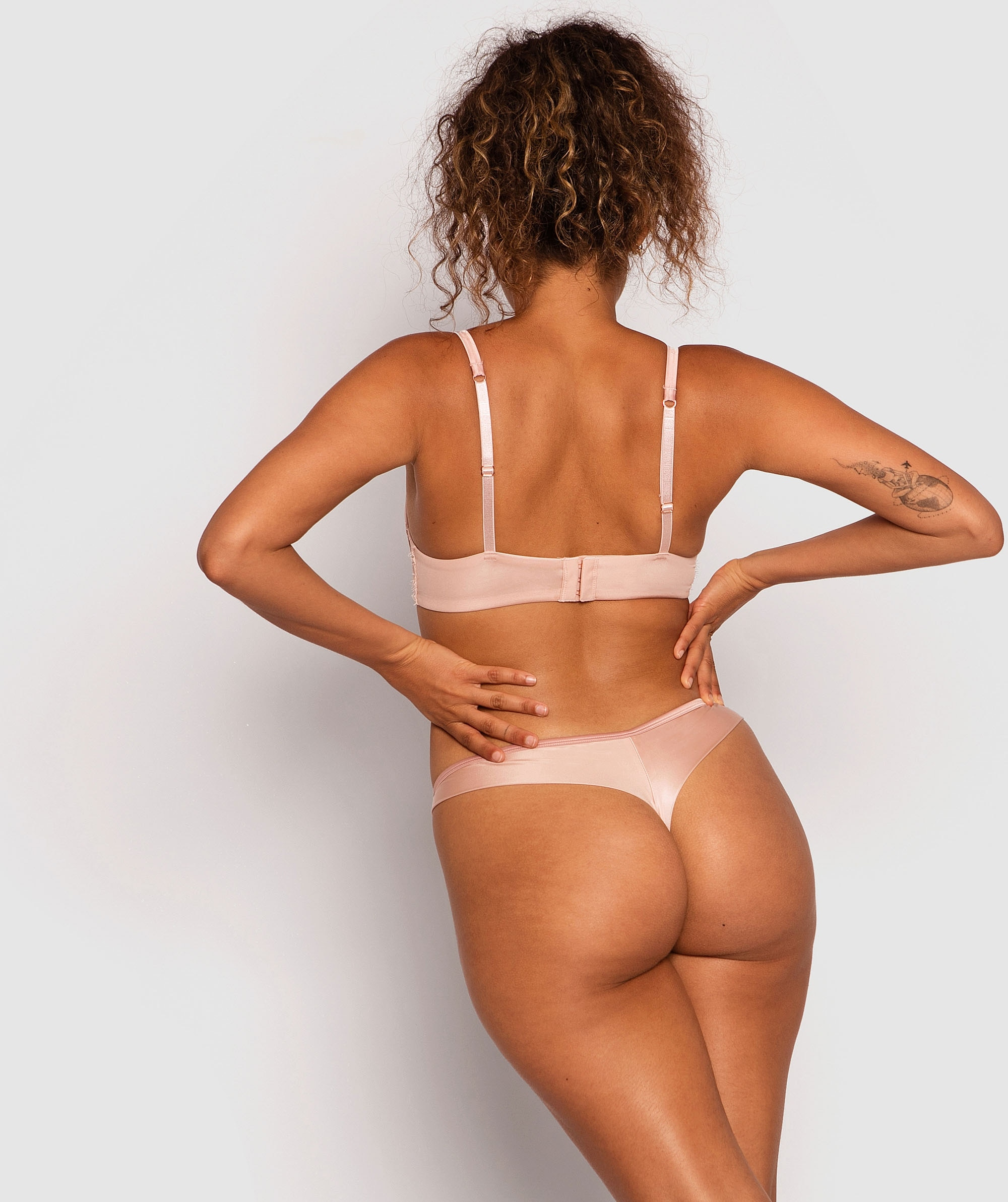 Fashion X Comfort V-String Knicker - Blush Pink