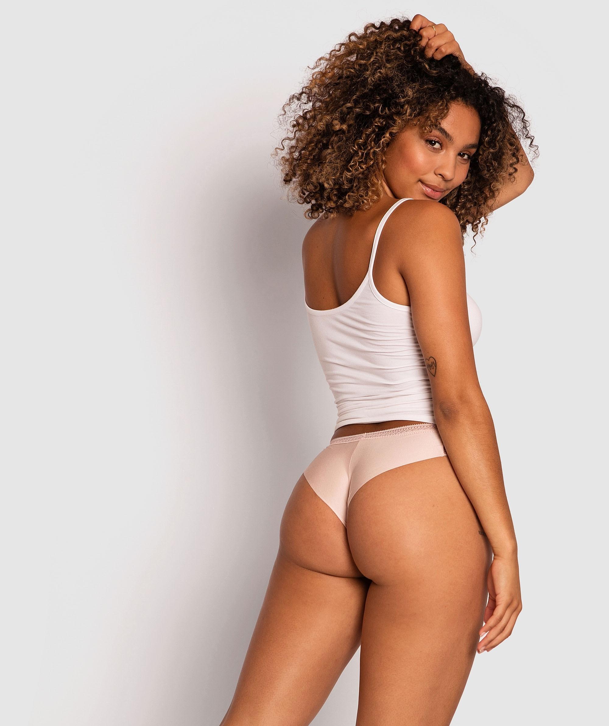 Sophia Brazilian Knicker - Blush Pink