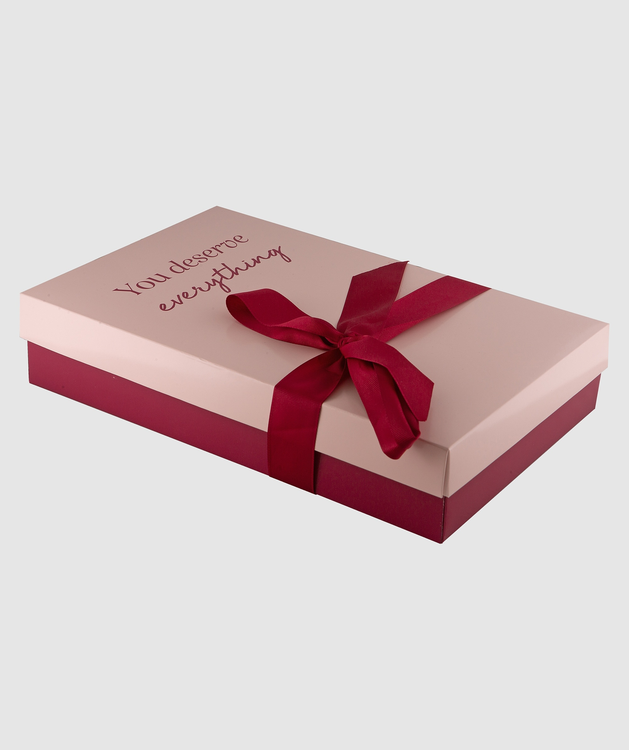 You Deserve Everything Medium Gift Box - Pink/Nude
