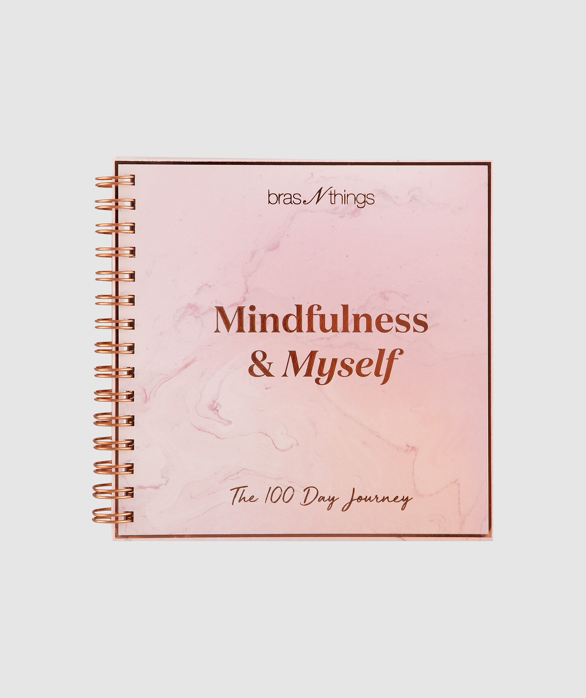Mindfulness & Myself Journal - Pink/Rose Gold