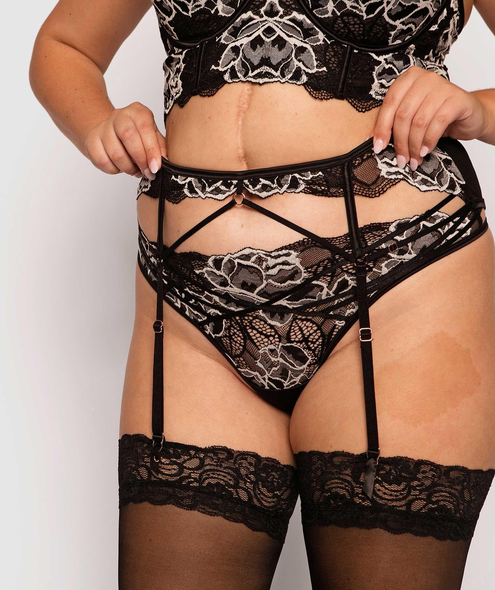 Enchanted La Rochelle Suspender - Black/White
