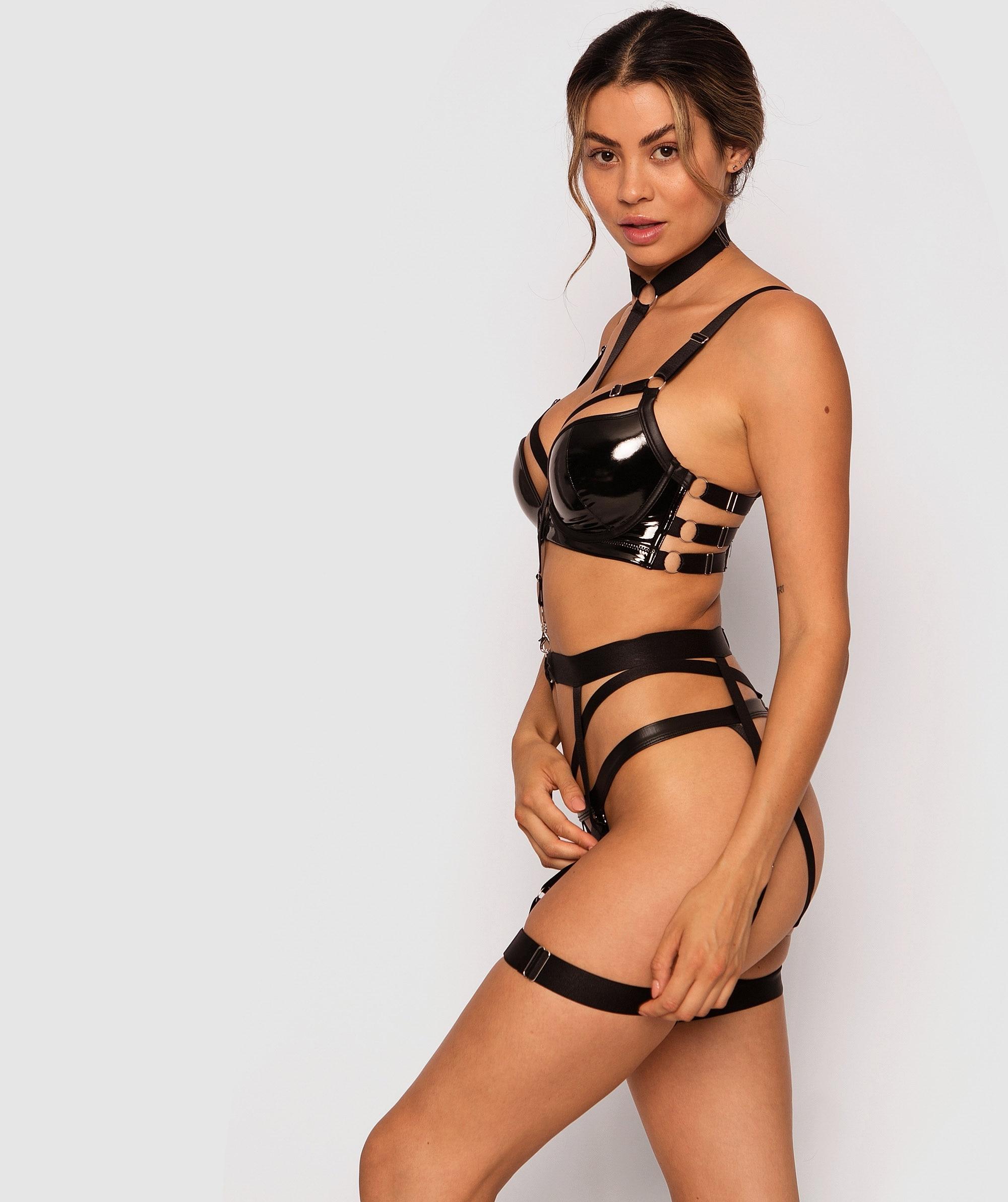 Domme Suspender - Black