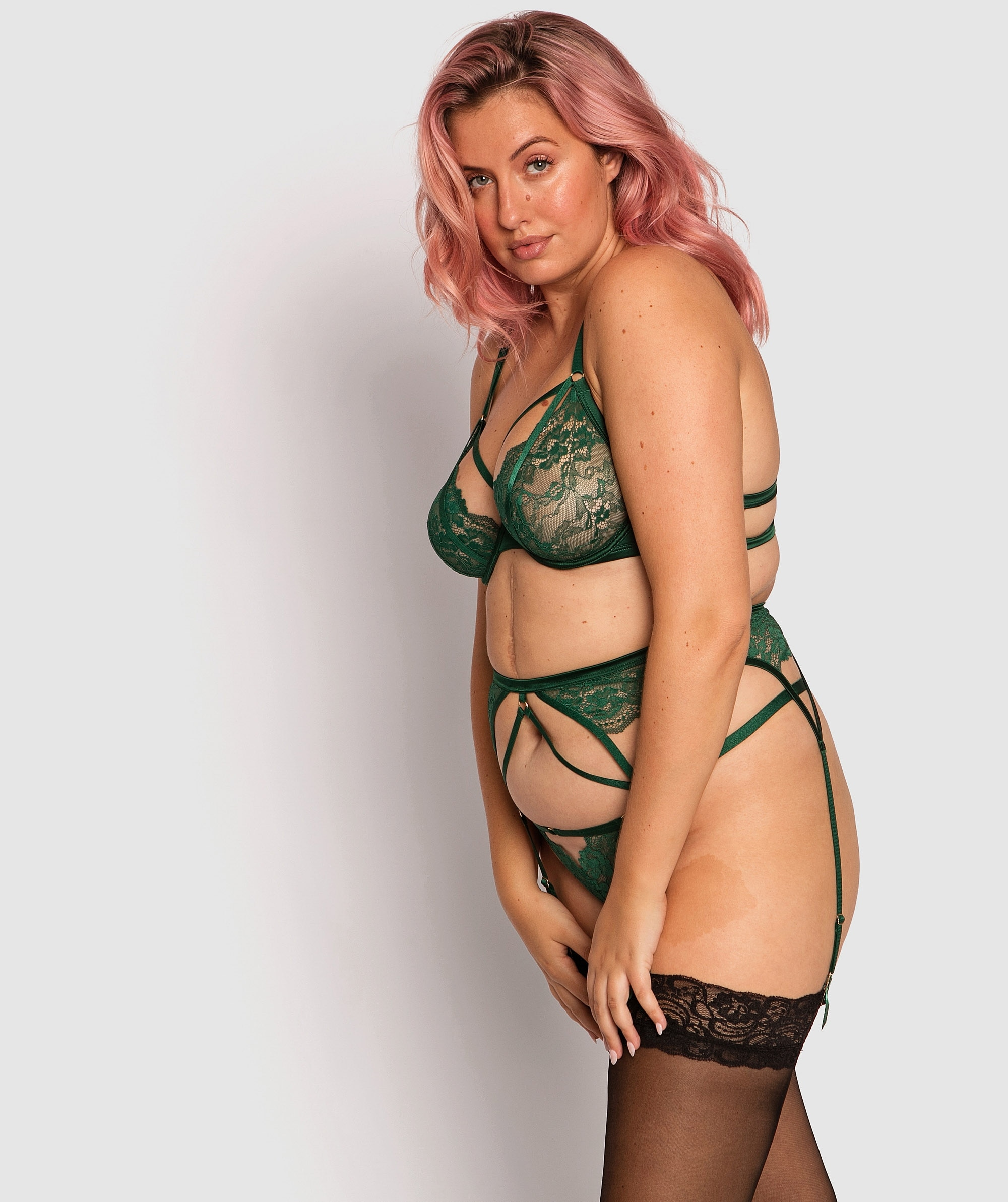 Envy Suspender - Dark Green