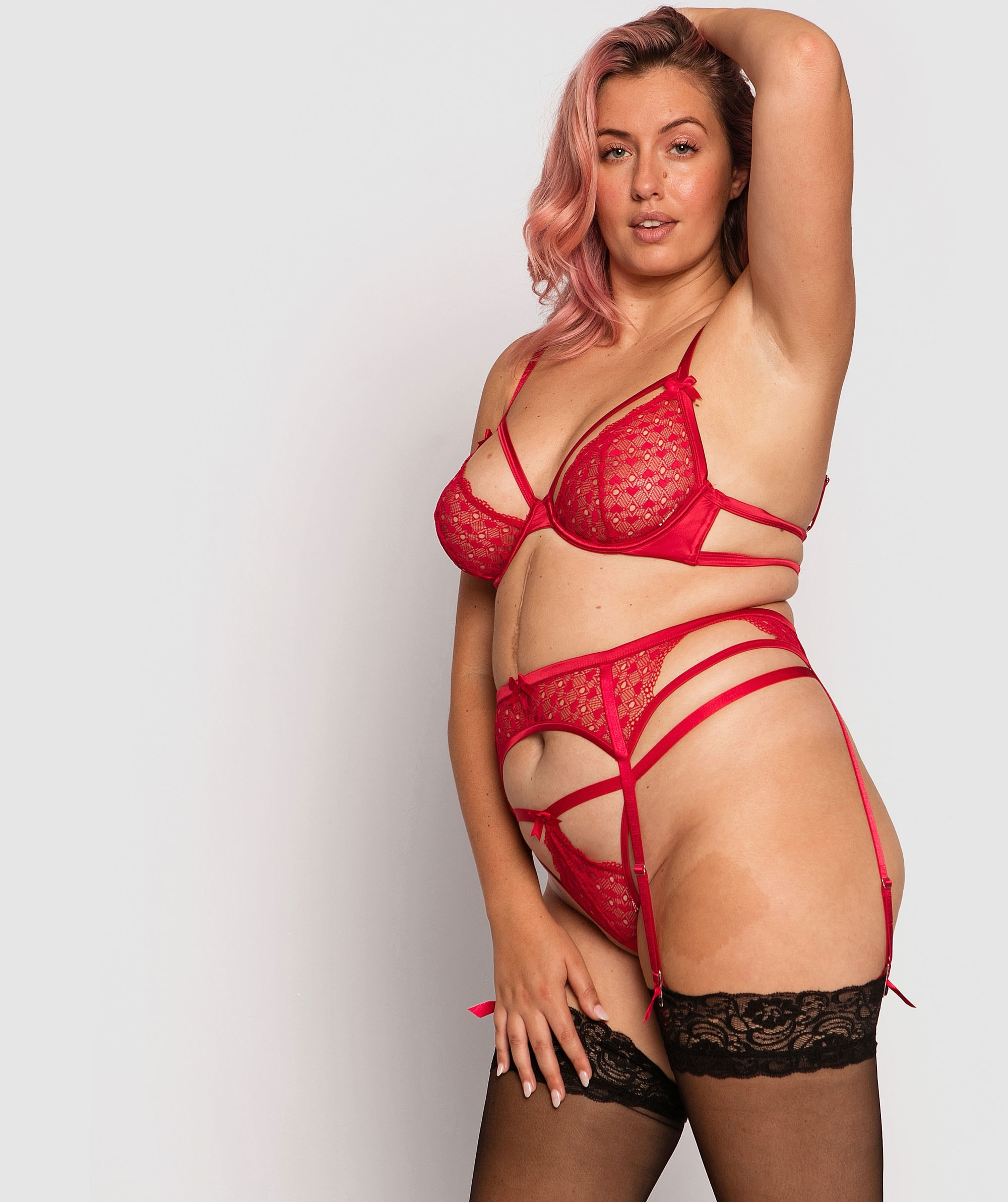 Lulu Suspender - Red
