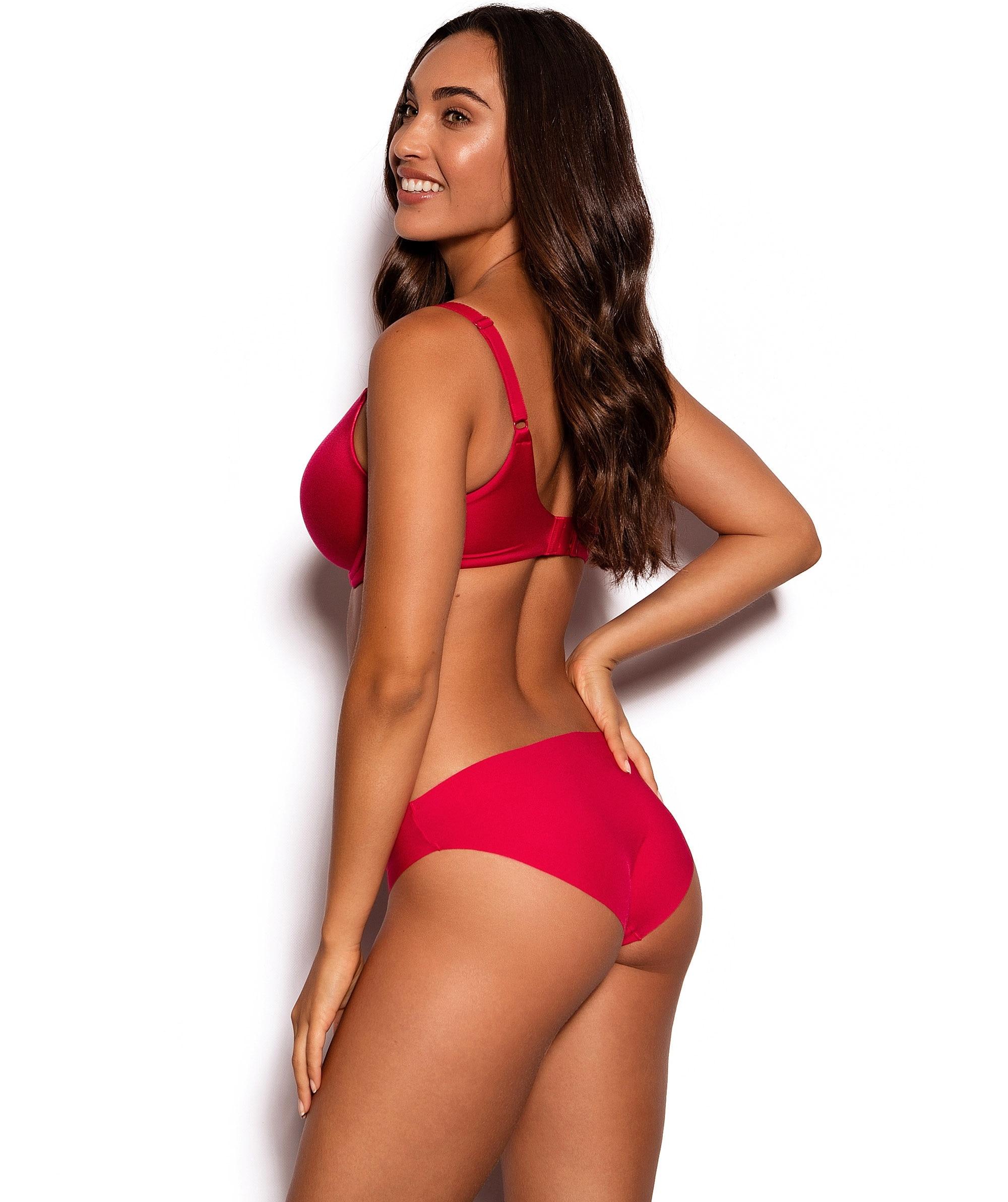 Smooth Comfort Bikini Cut Knicker - Red