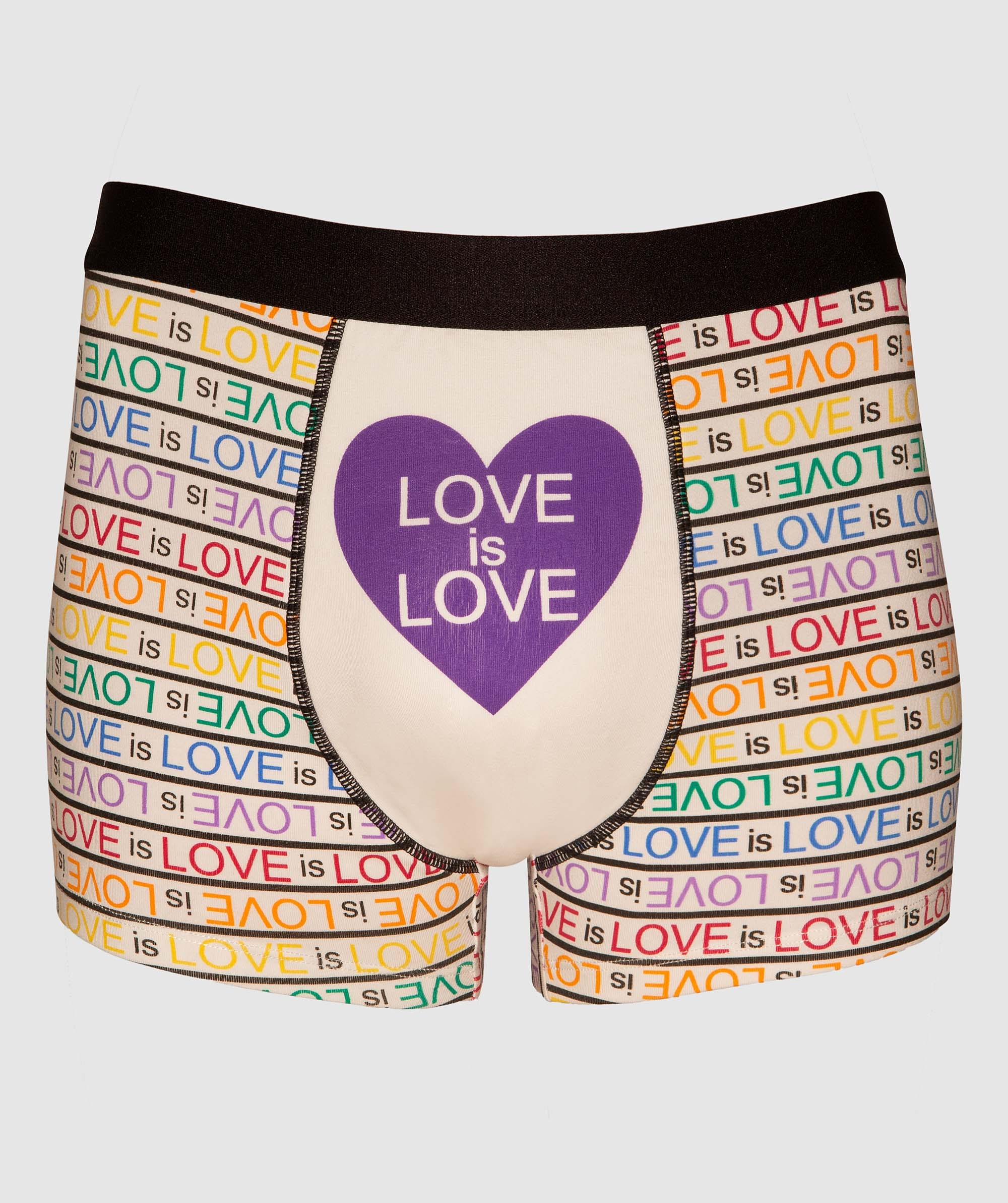 Love Is Love Man Trunks - White/Multi Colour