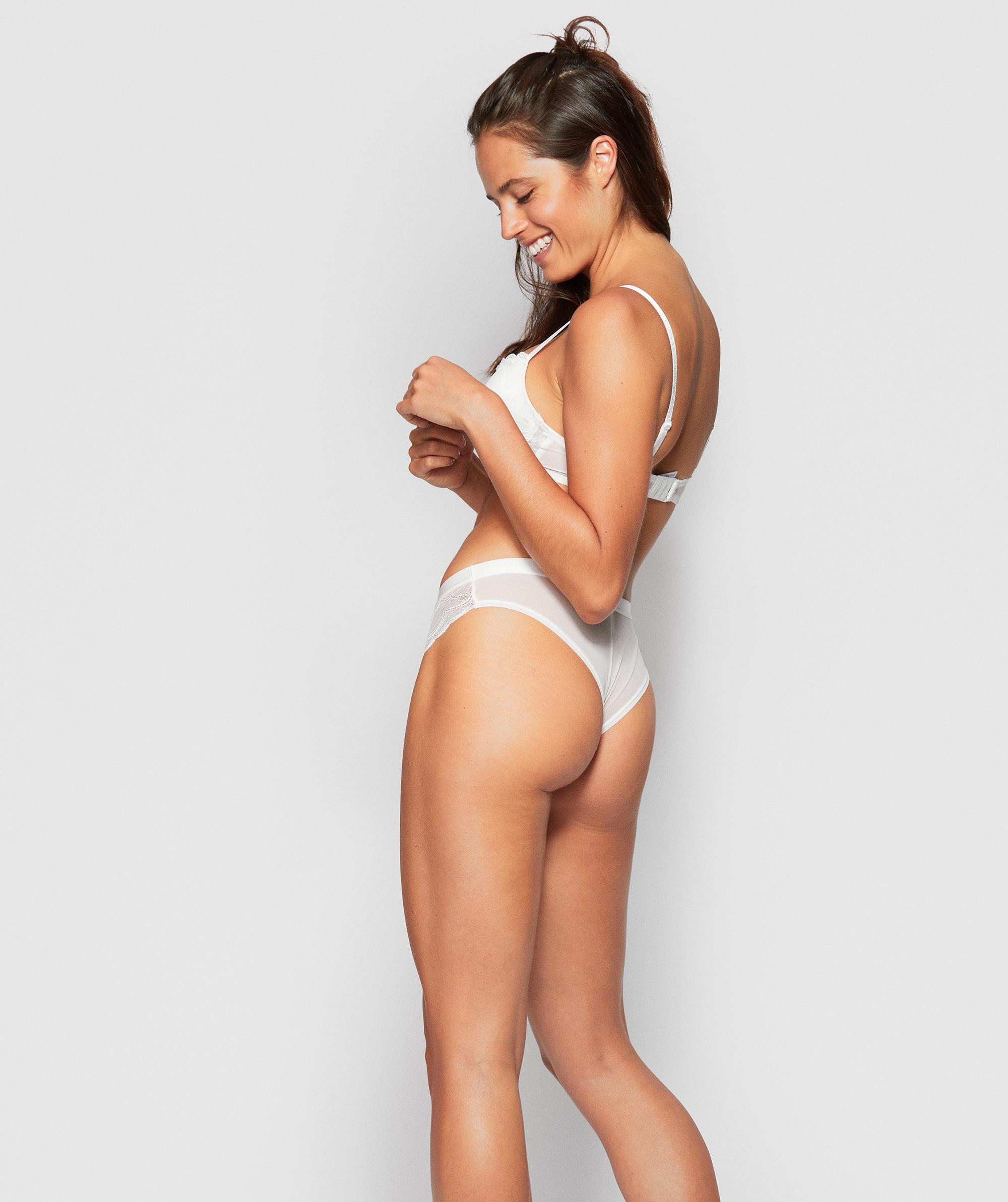 Posie Lace Brazilian Knicker - Ivory