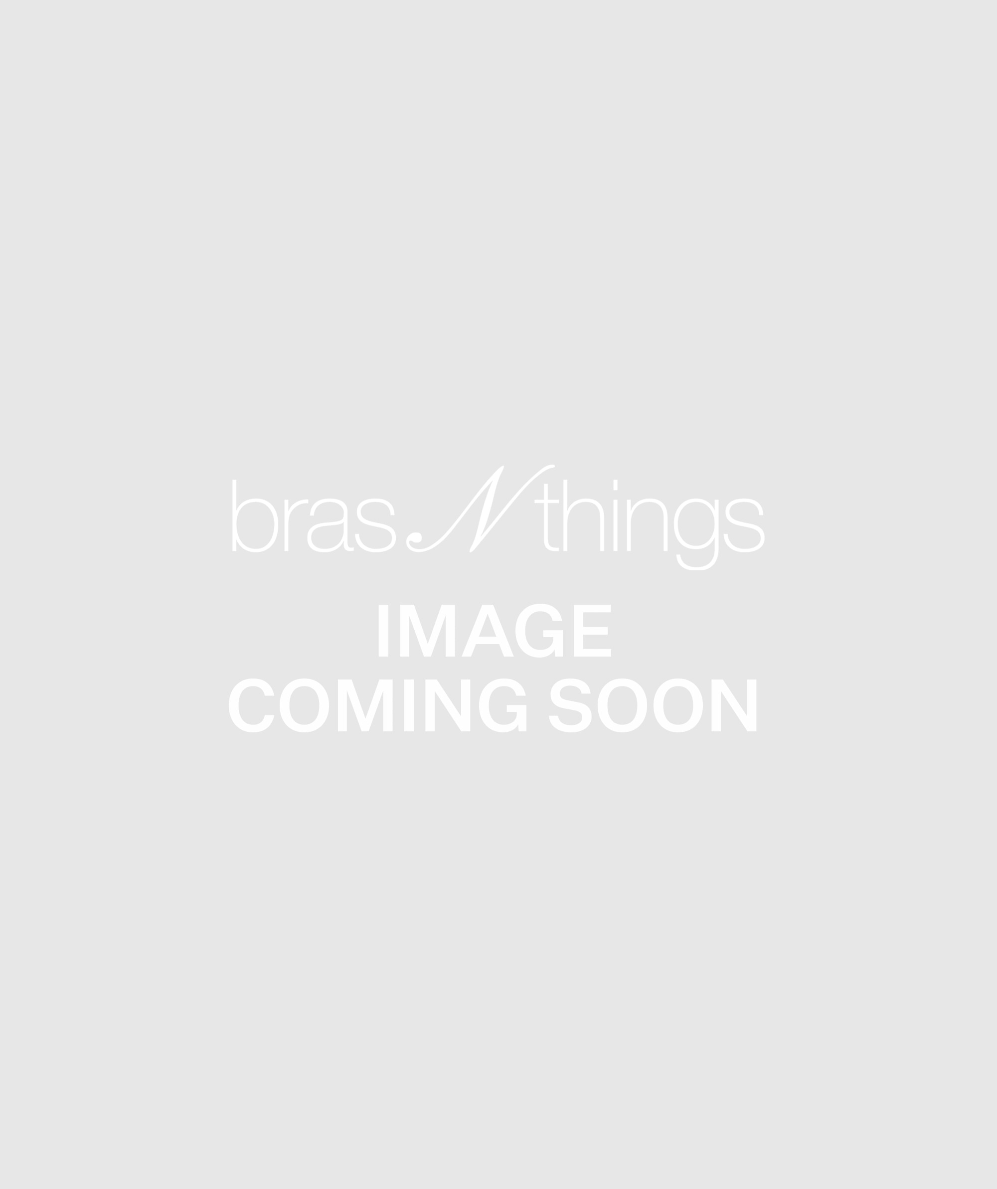 Harmony Triangle Soft Cup Bralette and Brazilian Set - Black