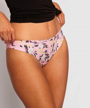 Smooth Comfort Lace Bikini Knicker - Print