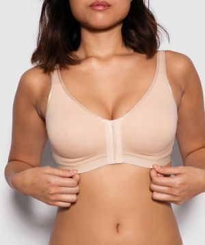 Post Surgery Wirefree International Bra - Nude