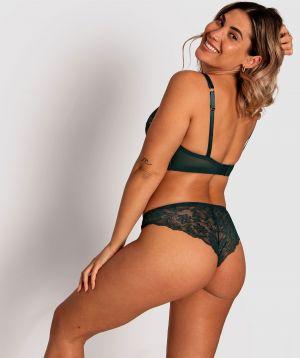 Alice Brazilian Knicker - Dark Green