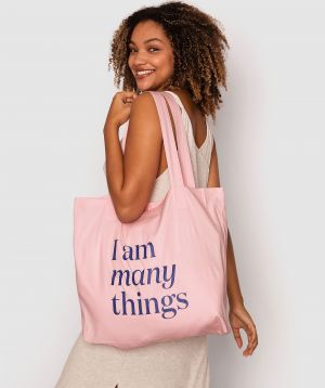 I Am Many Things Tote Bag - Pink