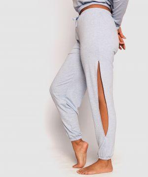Barre Side Cut Out Jogger Pants - Light Blue