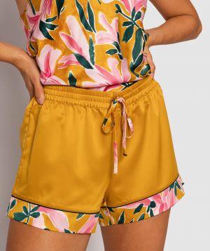 Saint Tropez Shorts - Dark Yellow/Floral Print