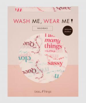 I Am Many Things Regular Washbag - Pink/Light Green