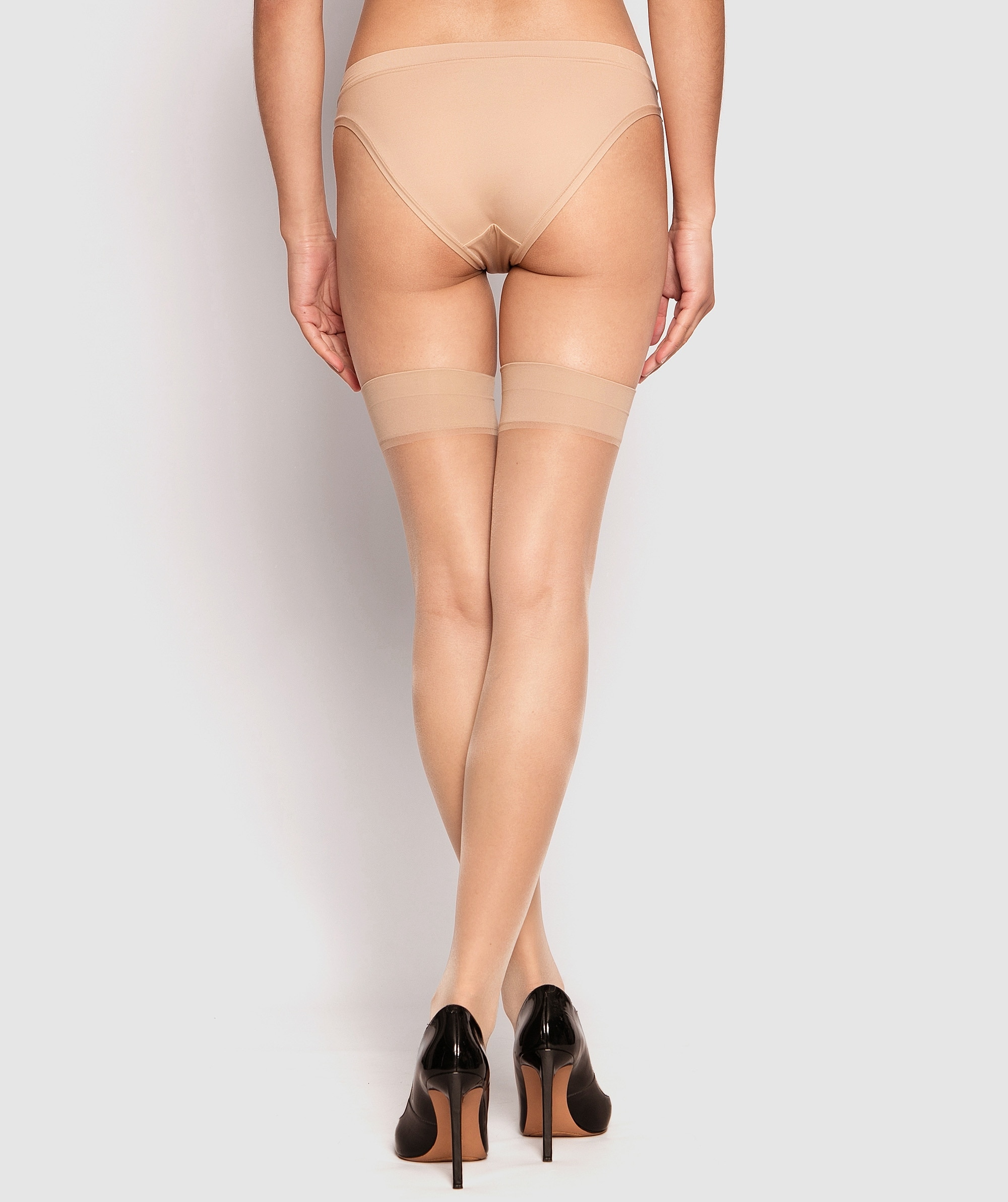 Smooth Top Stay Up Stockings - Nude 2