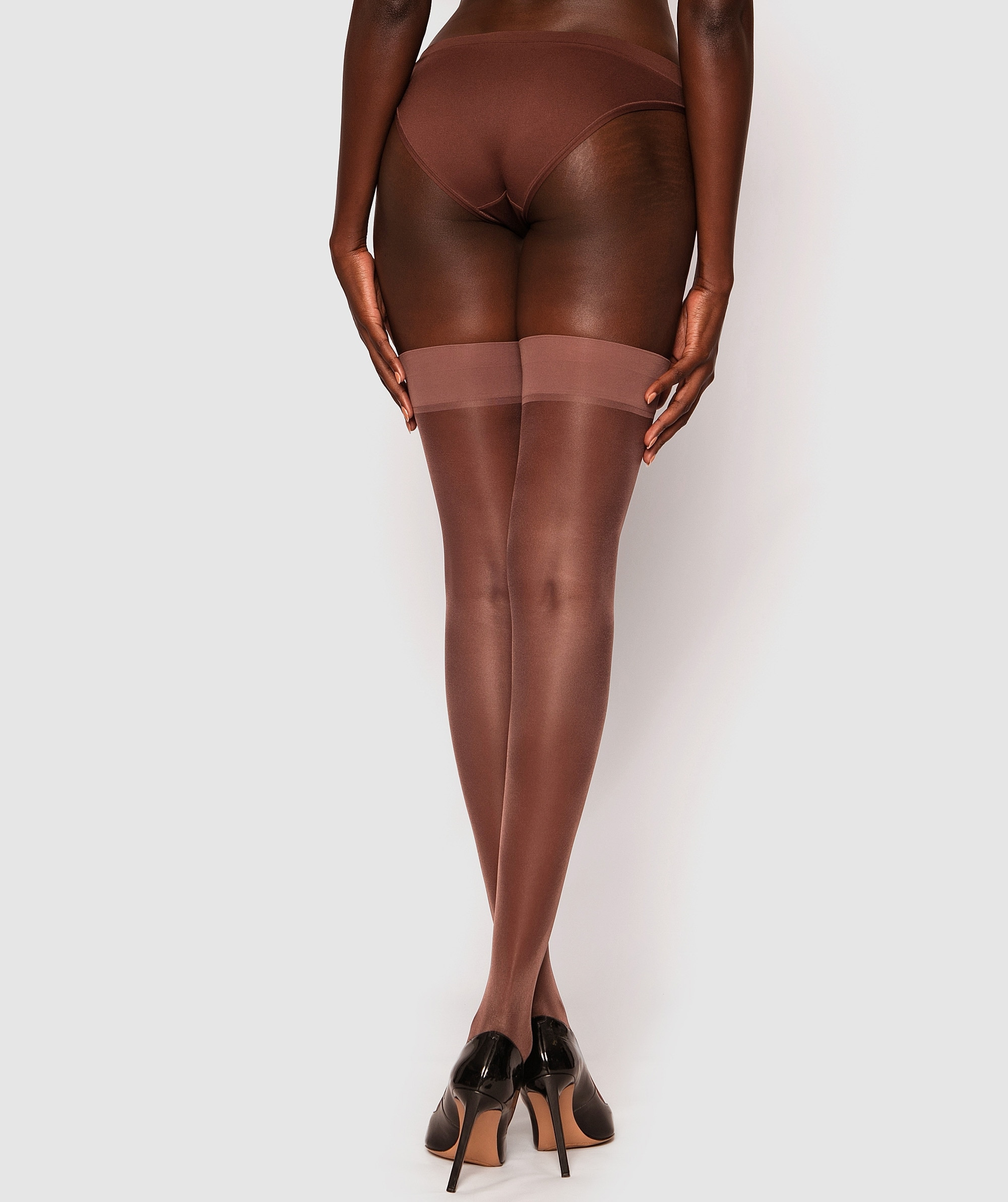 Smooth Top Stay Up Stockings - Nude 6